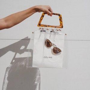 Handbags - TRANSPARENT TORTOISESHELL BAG